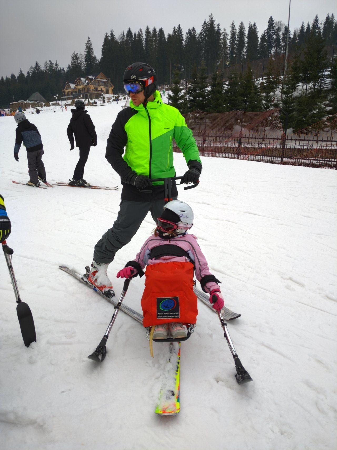 Śnieg + Adrenalina Junior - Wisła 2020 Styczeń - Narciarstwo zjazdowe osób niepełnosprawnych - Fundacja Aktywni Bez Barier