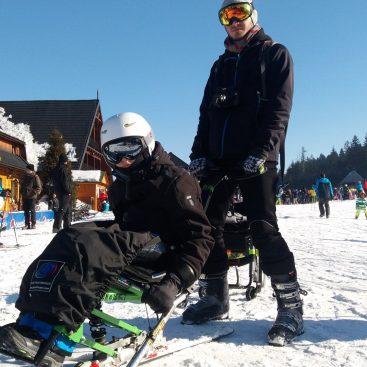Śnieg + Adrenalina - Junior - Wisła 2017 - Narciarstwo zjazdowe osób niepełnosprawnych - Fundacja Aktywni Bez Barier